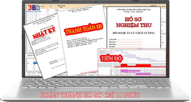 Phần mềm nghiệm thu, nhật ký dể dùng phổ biến và thông dụng nhất hiện nay
