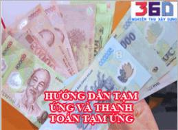 Hướng dẫn thực hiện tạm ứng và thanh toán tạm ứng theo Hợp đồng